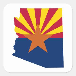 Sticker Carré Couleurs de drapeau de l'Arizona