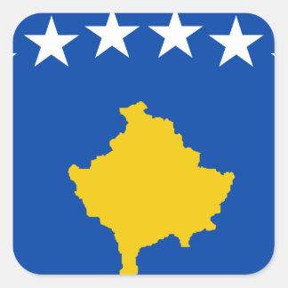 Sticker Carré Coût bas ! Drapeau de Kosovo