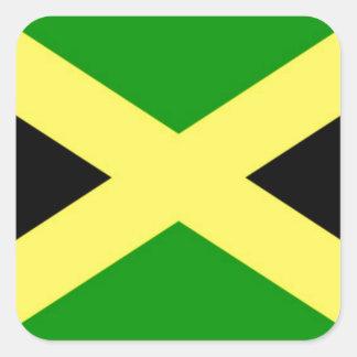 Sticker Carré Coût bas ! Drapeau de la Jamaïque