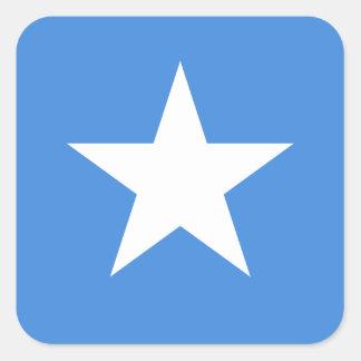 Sticker Carré Coût bas ! Drapeau de la Somalie