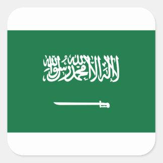 Sticker Carré Coût bas ! Drapeau de l'Arabie Saoudite