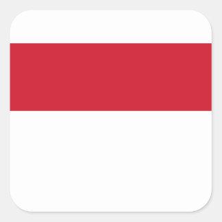 Sticker Carré Coût bas ! Drapeau de l'Indonésie