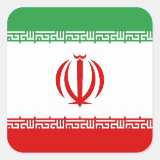 Sticker Carré Coût bas ! Drapeau de l'Iran