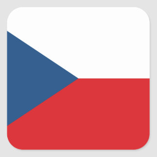 Sticker Carré Coût bas ! Drapeau de République Tchèque