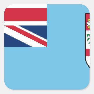 Sticker Carré Coût bas ! Drapeau des Fidji