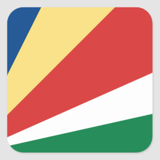 Sticker Carré Coût bas ! Drapeau des Seychelles
