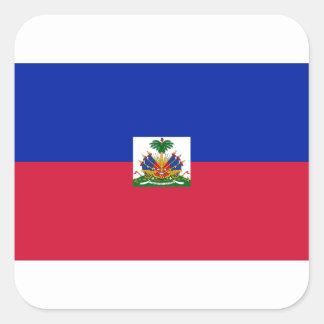 Sticker Carré Coût bas ! Drapeau du Haïti
