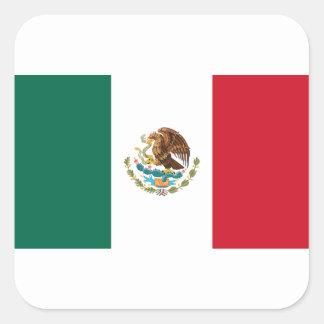 Sticker Carré Coût bas ! Drapeau du Mexique