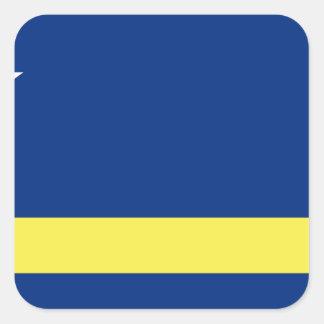 Sticker Carré Coût bas ! Le Curaçao diminuent