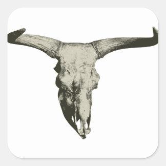 Sticker Carré Crâne de bison