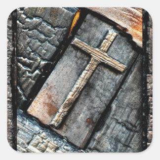 Sticker Carré Croix de la protection