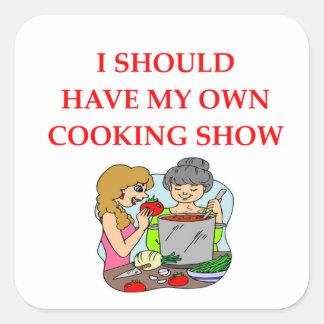 Sticker Carré cuisson
