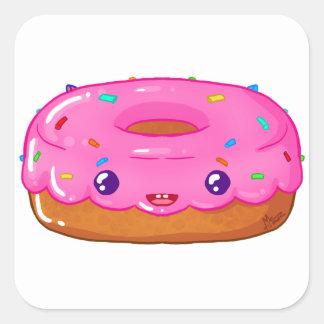 Sticker Carré cute donut kawaii