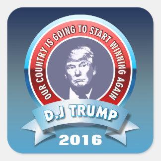Sticker Carré D.J. Atout 2016