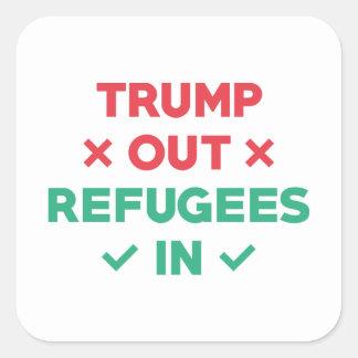 Sticker Carré D'atout réfugiés dedans