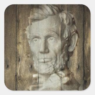 Sticker Carré DC Abraham Lincoln du Lincoln Memorial Washington