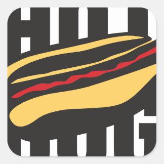 Sticker Carré 🌭 de hot-dog