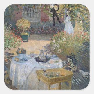 Sticker Carré Déjeuner de Claude Monet | : Le jardin Argenteuil