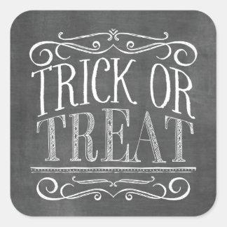 Sticker Carré Des bonbons ou un sort vintage Halloween de