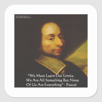 """Sticker Carré Des cadeaux de citation de sagesse """"apprenez"""