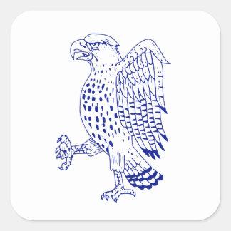 Sticker Carré dessin de marche Pointu-shinned de faucon