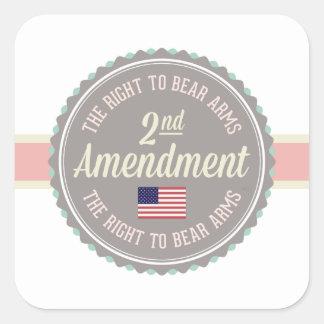Sticker Carré Deuxième amendement
