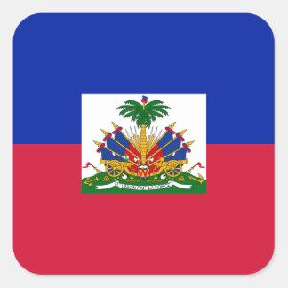 Sticker Carré d'Haïti de Drapeau - drapeau du Haïti