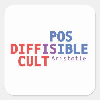Sticker Carré Difficile est possible - Aristote