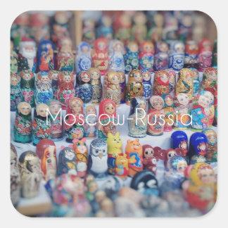 Sticker Carré dolls_russia
