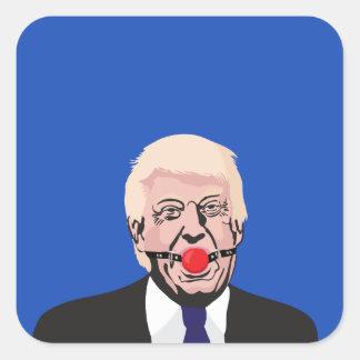Sticker Carré Donald J. Trump avec le bâillon - ajoutez votre