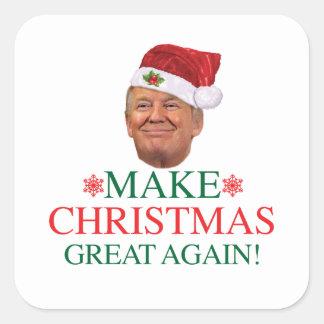 Sticker Carré Donald Trump - faites à Noël le grand encore