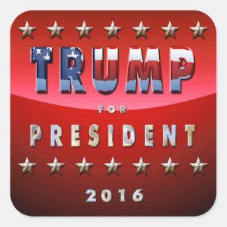 Sticker Carré Donald Trump pour le Président en 2016