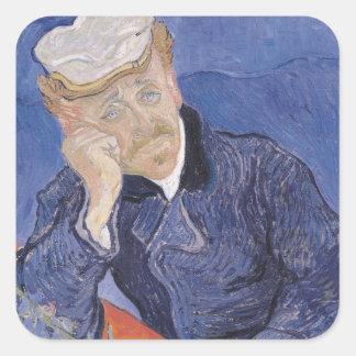 Sticker Carré Dr. Paul Gachet, 1890 de Vincent van Gogh |