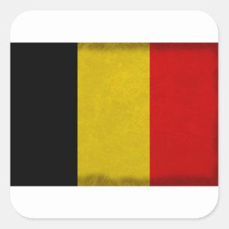 Sticker Carré Drapeau Belgique Belge
