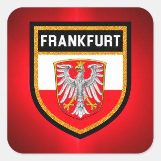 Sticker Carré Drapeau de Francfort