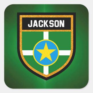 Sticker Carré Drapeau de Jackson
