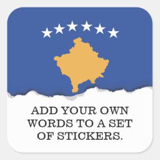 Sticker Carré Drapeau de Kosovo