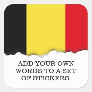 Sticker Carré Drapeau de la Belgique