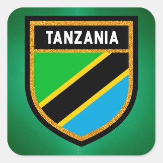 Sticker Carré Drapeau de la Tanzanie