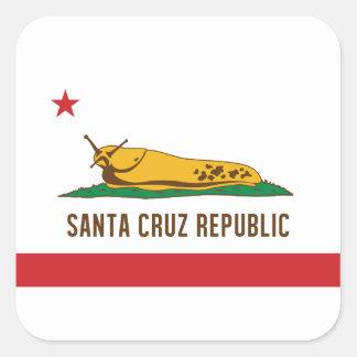Sticker Carré Drapeau de lingot de banane de République de Santa