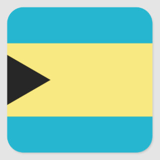 Sticker Carré Drapeau des Bahamas
