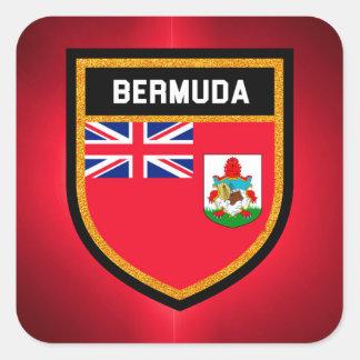 Sticker Carré Drapeau des Bermudes