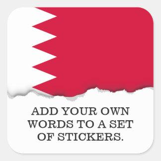 Sticker Carré Drapeau du Bahrain