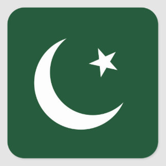 Sticker Carré Drapeau du Pakistan