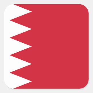 Sticker Carré Drapeau national du monde du Bahrain