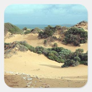 Sticker Carré Dunes de sable balayées par le vent, Australie