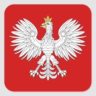 Sticker Carré Eagle polonais