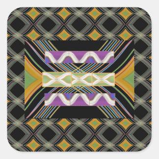 Sticker Carré Écoulement d'énergie de motif de diamant