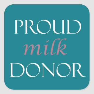 Sticker Carré Écriture rose de lait fier et blanche de