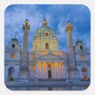 Sticker Carré Église de saint Charles, Vienne